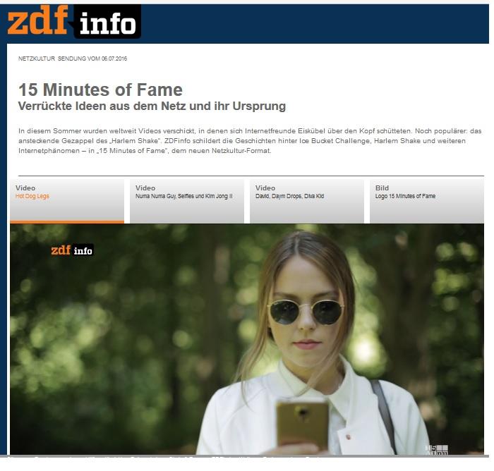 ZDF INFO Goldschnee Press