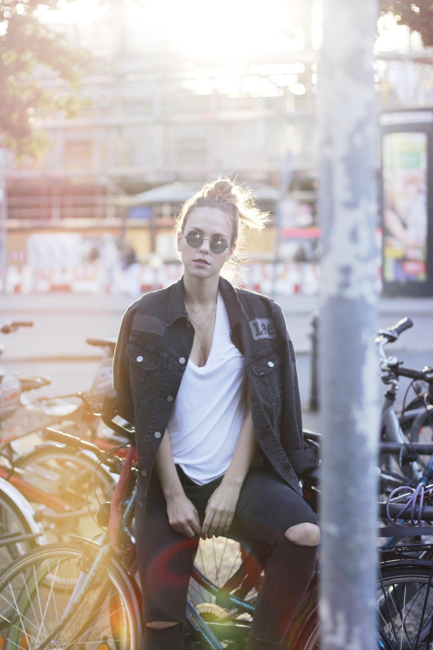 Total Denim Look , Streetstyle Berlin