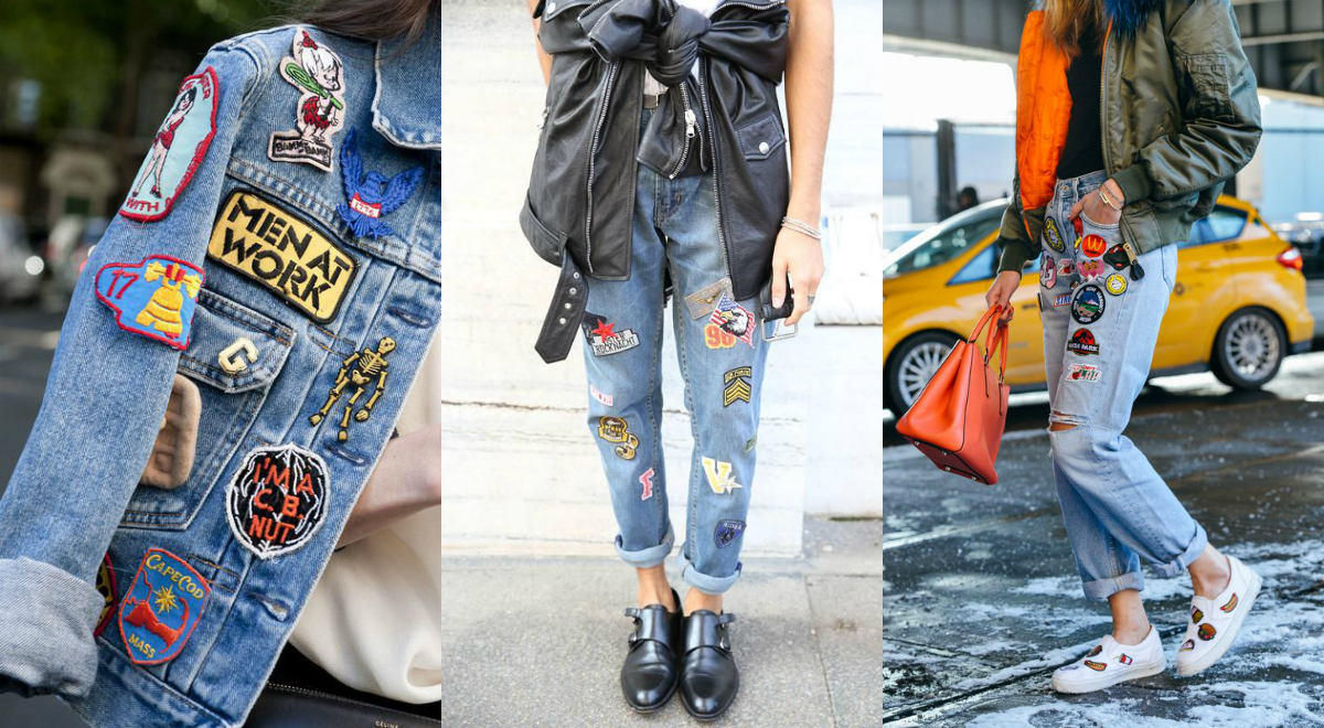Jeans with patches / goldschnee.com